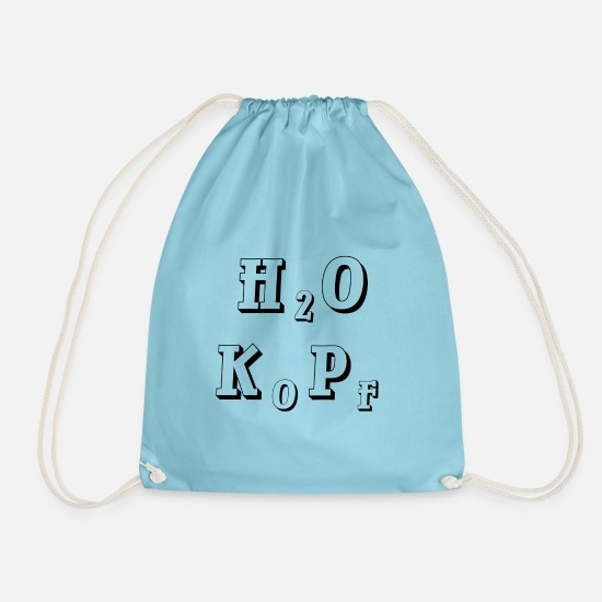 Boss Bags & Backpacks - H2O head - Drawstring Bag aqua