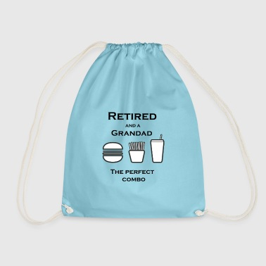 Retired and a Grandad - Drawstring Bag