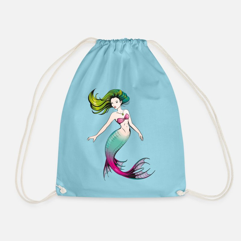 Spreadshirtlikes Bags & Backpacks - Mermaid - Drawstring Bag aqua