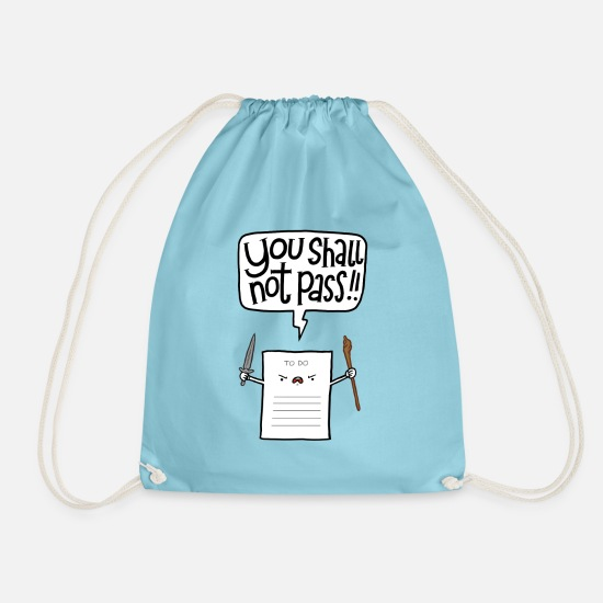 Funny Bags & Backpacks - You shall not pass - Drawstring Bag aqua