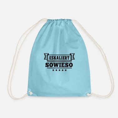 Stag Do Escalates anyway, for drinking or for JGA - Drawstring Bag