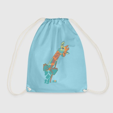 Animal Planet Africa Cute Giraffe With Bowtie - Drawstring Bag