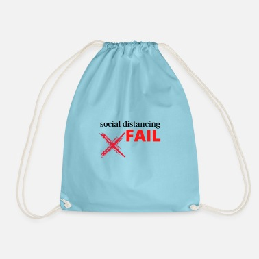 social distancing FAIL - Drawstring Bag