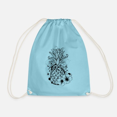Collections Pineapple with hibiscus blossom - Mochila saco