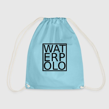 Waterpolo lettering black - Drawstring Bag