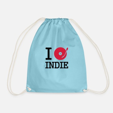 Musical I dj / play / listen to indie - Drawstring Bag