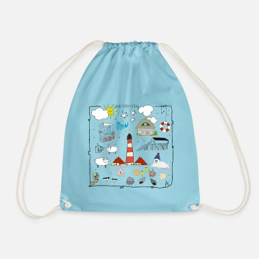 Sankt Peter-Ording love - Drawstring Bag