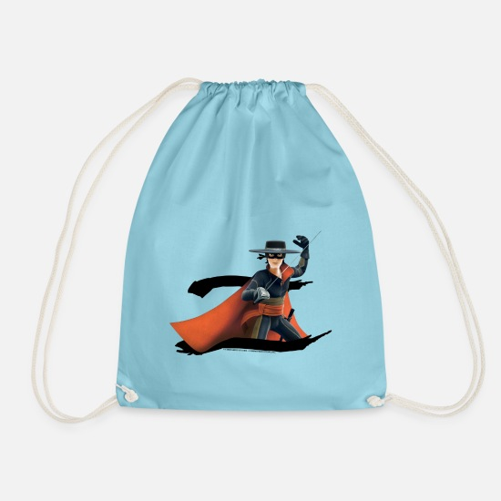 Zorro Bags & Backpacks - Zorro The Chronicles Masked Hero And Letter Z - Drawstring Bag aqua