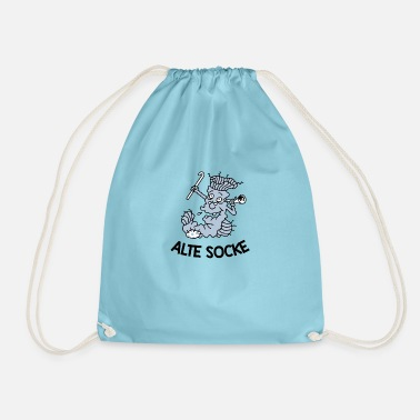 Old sock - Drawstring Bag