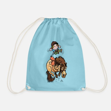 Thelwell Funny Illustration Bucking Horse - Drawstring Bag