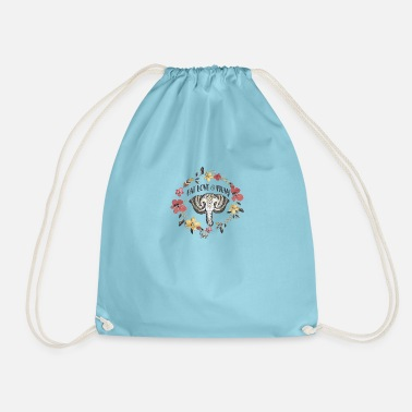 Elephant Love and be Zen - Drawstring Bag