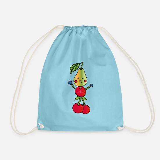 Game Bags & Backpacks - Sporty fruit - Drawstring Bag aqua