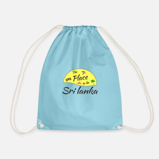 Travel Bags & Backpacks - Sri Lanka Holiday T-Shirt - Drawstring Bag aqua