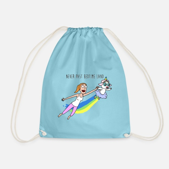 Cool Bags & Backpacks - Rick And Morty Summer Never Past Bedtime Land - Drawstring Bag aqua