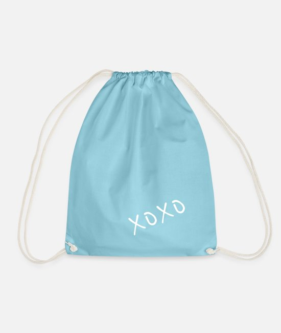 Mood Bags & Backpacks - xoxo - Drawstring Bag aqua
