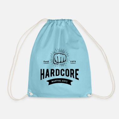 Letter Boxing Boxing fist with lettering boxing fighter - Drawstring Bag