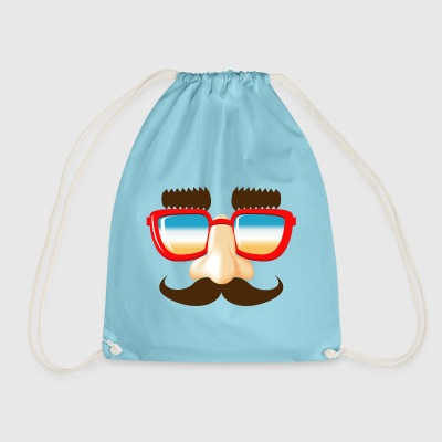 stuffing and catches mustache nose glasses - Drawstring Bag