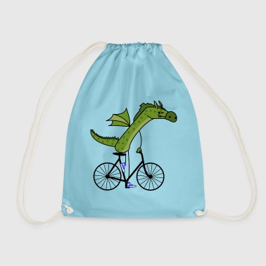 sporty dragon - Drawstring Bag