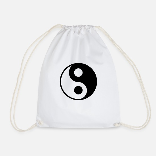 Serce Bags & Backpacks - Yin Yang - Drawstring Bag white
