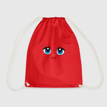 eyes manga sky - Drawstring Bag