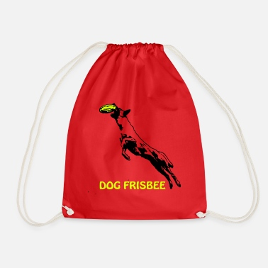 Scalable Dog Frisbee with Malinois and lettering - Drawstring Bag