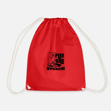 Flee Flee the System Sandglass - Drawstring Bag