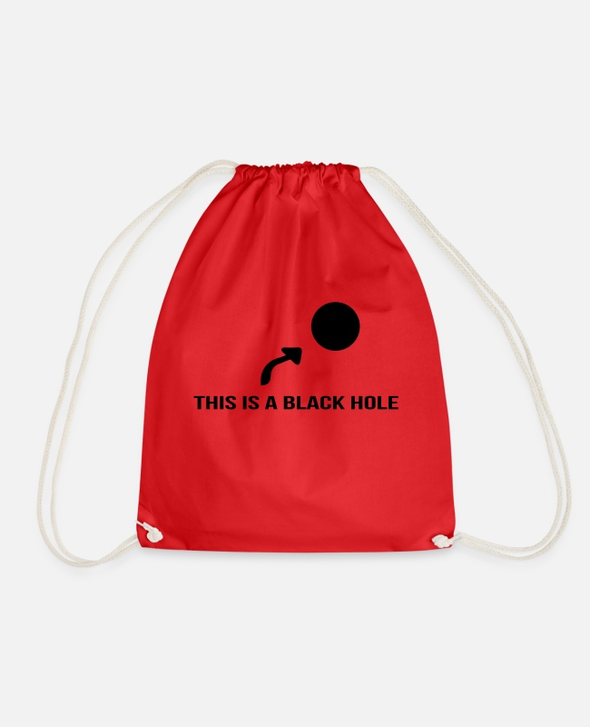 Arrow Bags & Backpacks - Black hole - Drawstring Bag red