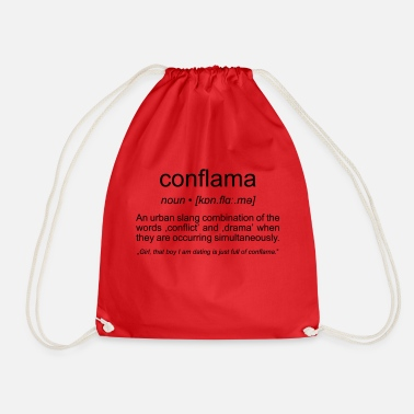 Conflict conflama, american slang for conflict and drama - Drawstring Bag