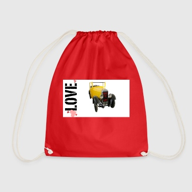 Drive Go By Car I love driving a car - Drawstring Bag