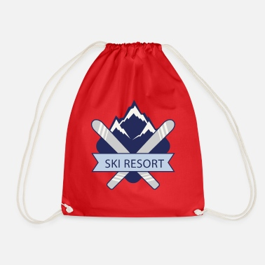 Ski Resort Ski Resort - Drawstring Bag