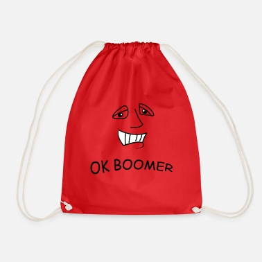 ok boomer face - Drawstring Bag