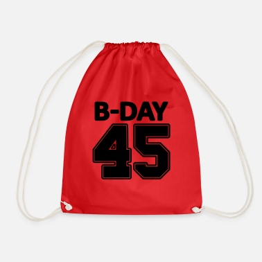 Number 45th Birthday / Numbers Number Number Number 45 - Drawstring Bag