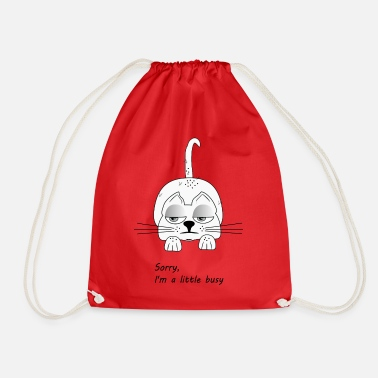 Scamp tired cat - Drawstring Bag