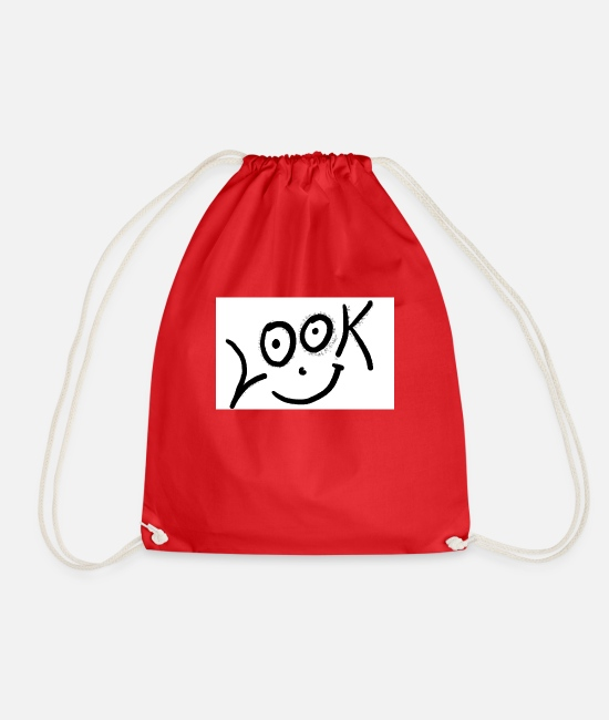 Look Bags & Backpacks - look - Drawstring Bag red