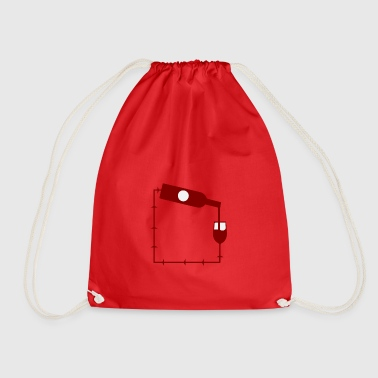 wine wine wine shop - Drawstring Bag