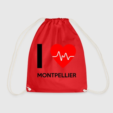 I Love Montpellier - I love Montpellier - Drawstring Bag
