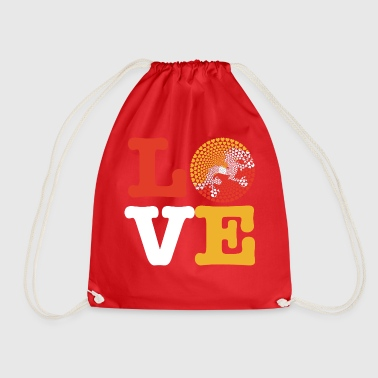 Bhutan heart - Drawstring Bag