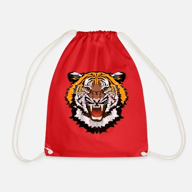 Bad Look Tiger Graphic Used Look Bad Look T-Shirt - Drawstring Bag