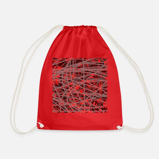Red Bags & Backpacks - red - Drawstring Bag red