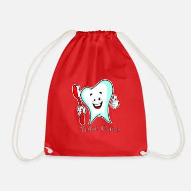 Tooth tooth - Drawstring Bag