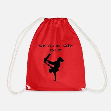 Stencil SKATE OR THE! Stencils design, stencil - Drawstring Bag