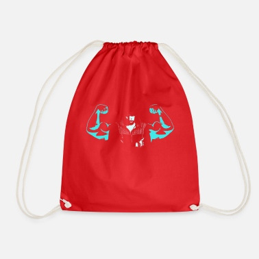 Tricep Muscles biceps triceps arms Cool Strong ego - Drawstring Bag