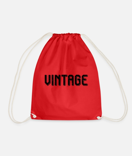 Vintage Car Bags & Backpacks - Vintage - Drawstring Bag red