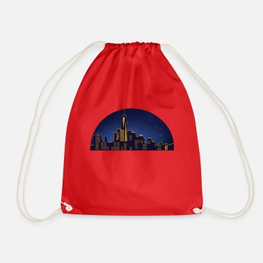 Swagalicious NY night skyline - Drawstring Bag
