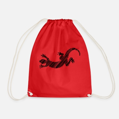Lizard Gift Idea Design Graphic Exclusive art - Drawstring Bag
