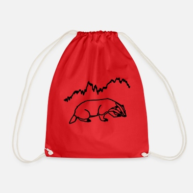 The badger of the finances - Drawstring Bag
