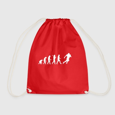 Evolution Football! American Football! funny! - Drawstring Bag