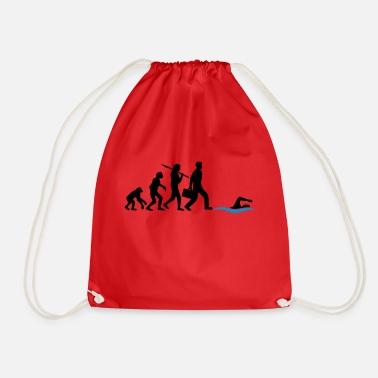 Swim evolution development born to swim logo s - Drawstring Bag