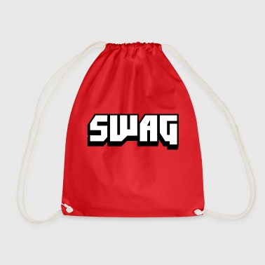 SWAG Black and White - Drawstring Bag