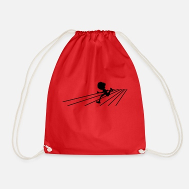 Running running person on a track sports - Drawstring Bag